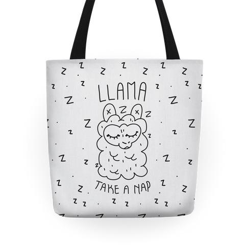 Llama Take a Nap Tote