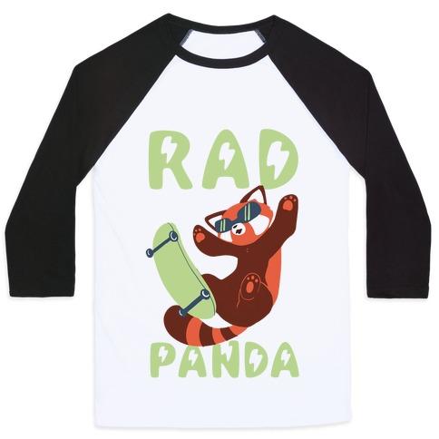Rad Panda - Red Panda Baseball Tee
