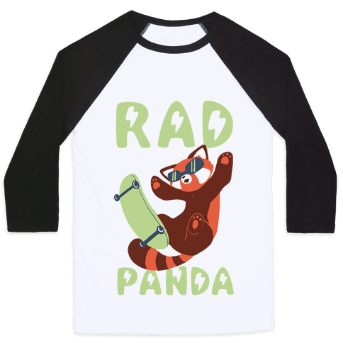 Rad Panda - Red Panda Baseball Tee