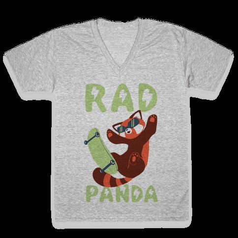 Rad Panda - Red Panda V-Neck Tee Shirt