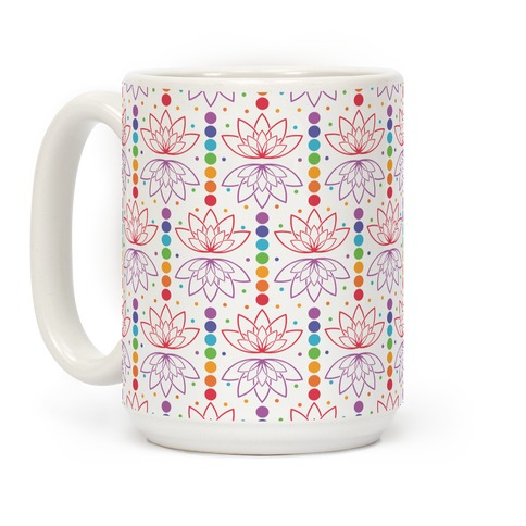 Chakra And Lotus Leaf Pattern Coffee Mug