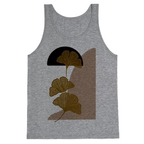 Minimalist Ginkgo Leaf Illustration Tank Top
