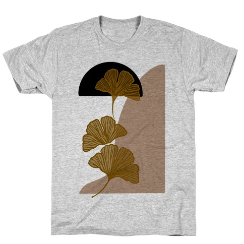 Minimalist Ginkgo Leaf Illustration T-Shirt