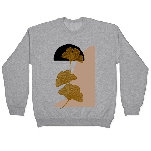 Minimalist Ginkgo Leaf Illustration Pullover
