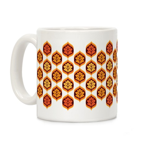 Vintage Autumn Leaves Pattern Coffee Mug