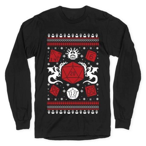 D&D Ugly Sweater Long Sleeve T-Shirt