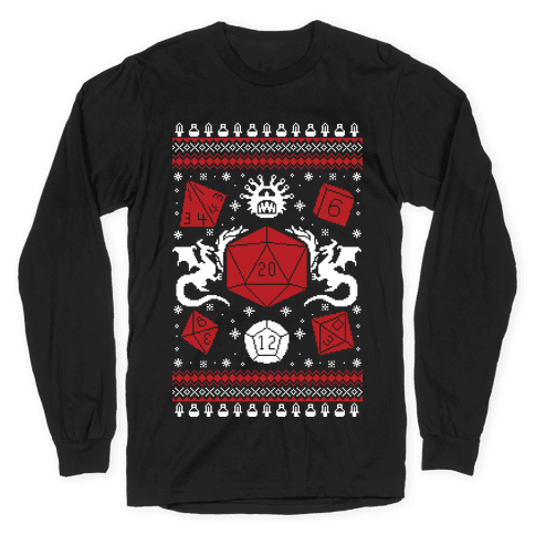 D&D Ugly Sweater Long Sleeve T-Shirt