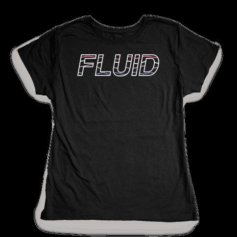 Fluid Waves Womens T-Shirt