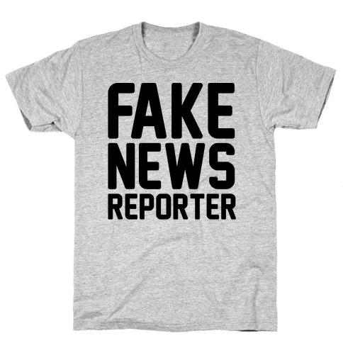 Fake News Reporter Mens T-Shirt