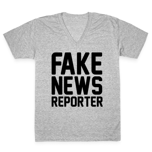 Fake News Reporter V-Neck Tee Shirt