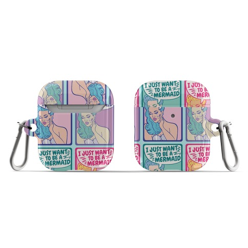 I Just Want To Be A Mermaid Pop Art AirPod Case