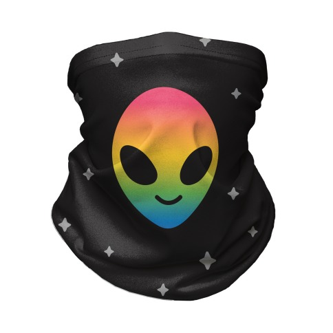 Rainbow Alien Neck Gaiter