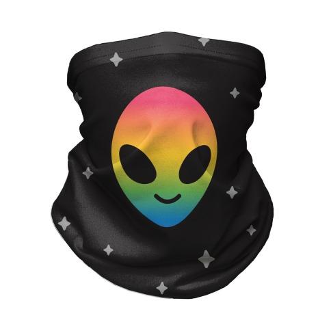 Rainbow Alien Neck Gaiter