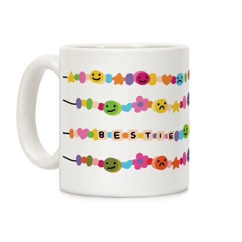 Bestie Friendship Bracelet Pattern Coffee Mug