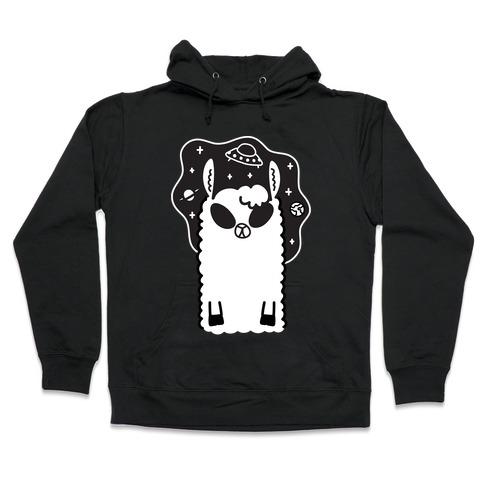 Allien - Llama Alien Hooded Sweatshirt