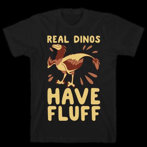 Real Dinos Have Fluff Mens T-Shirt