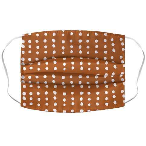 Polka Dot Rust Minimalist Boho Pattern Accordion Face Mask