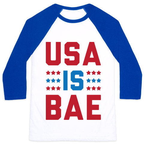 USA is BAE Baseball Tee