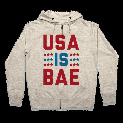 USA is BAE Zip Hoodie
