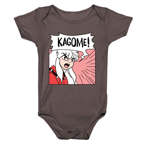 InuYasha Screaming Kagome (1 of 2 pair) Baby One-Piece
