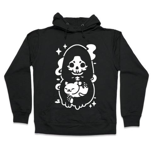 Death and Kitty Hooded Sweatshirt