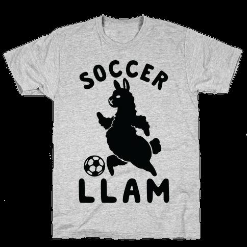 Soccer Llam Mens T-Shirt