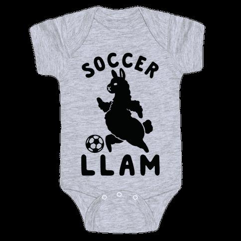 Soccer Llam Baby Onesy