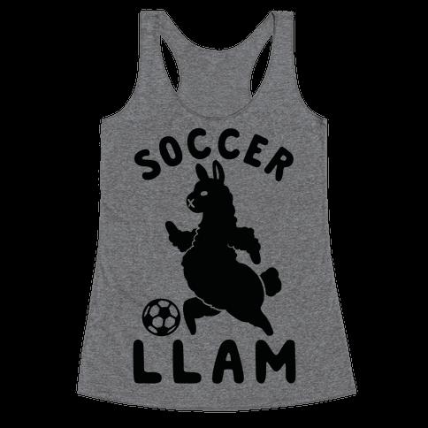 Soccer Llam Racerback Tank Top