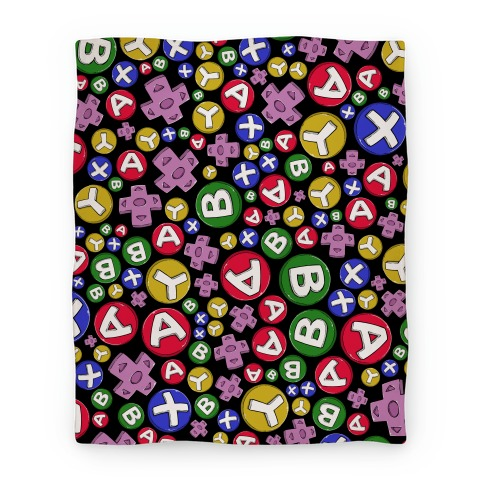 Video Game Controller Buttons Pattern Blanket
