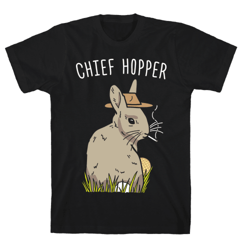 Chief Hopper Parody Mens T-Shirt