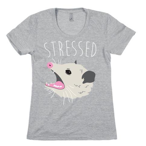 Stressed Opossum Womens T-Shirt