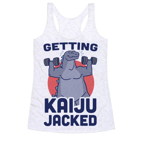 Getting Kaiju-Jacked Racerback Tank Top