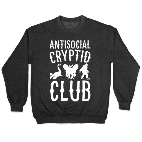 Antisocial Cryptid Club White Print Pullover