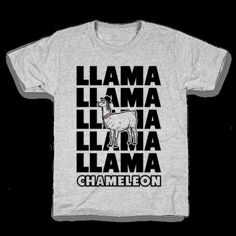 Llama Chameleon Kids T-Shirt