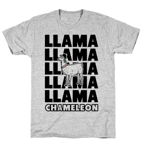 Llama Chameleon Mens T-Shirt