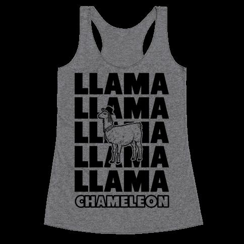 Llama Chameleon Racerback Tank Top