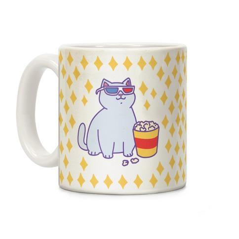 Fat Cat With Popcorn Coffee Mug