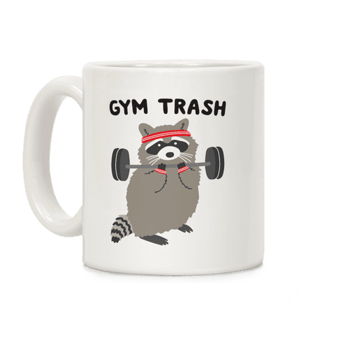 Gym Trash Raccoon Coffee Mug