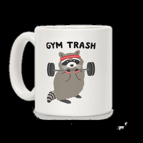 Gym Trash Raccoon Coffee Mug