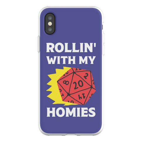 Rollin' With My Homies D&D Phone Flexi-Case