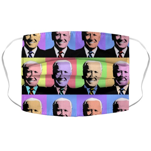 Pop Art Biden Accordion Face Mask
