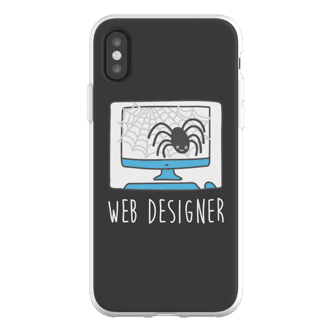 Web Designer Spider Phone Flexi-Case