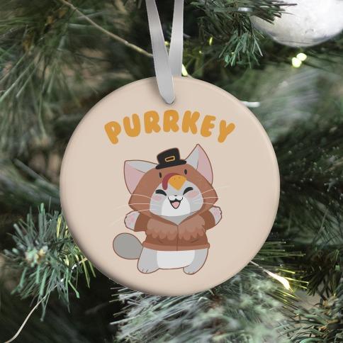 Purrkey Ornament