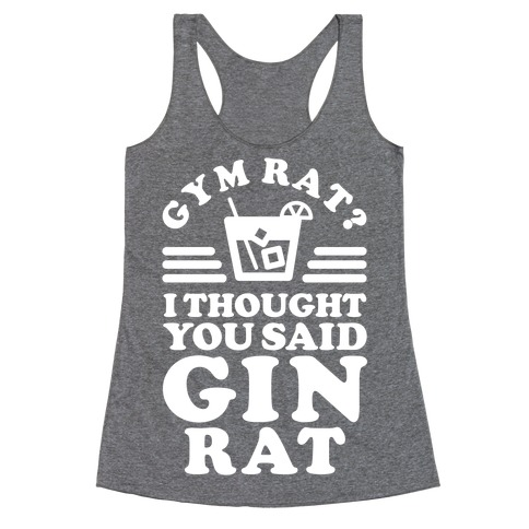 Gin Rat Racerback Tank Top