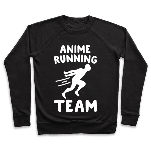 Anime Running Team White Print Pullover