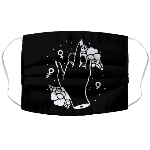 Girl Power Middle Finger Accordion Face Mask