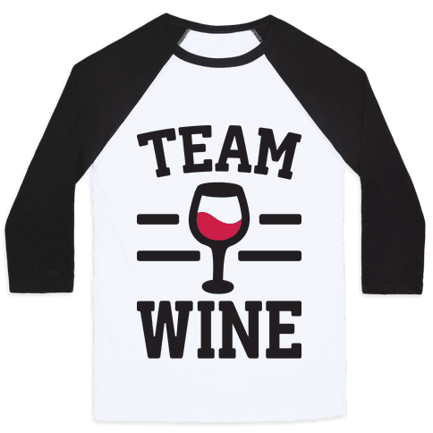 Team Wine Baseball Tee