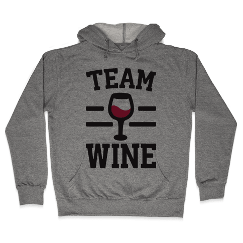 Team Wine Hooded Sweatshirt