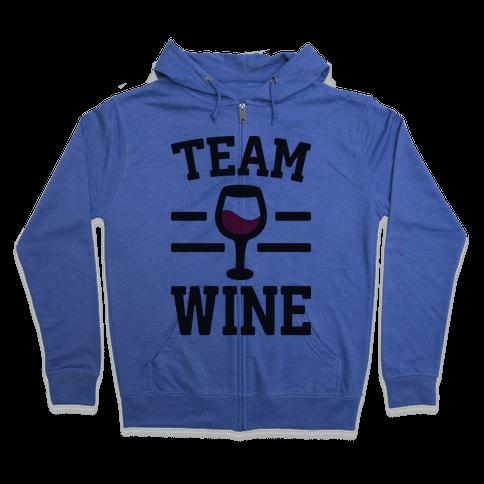 Team Wine Zip Hoodie