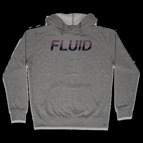 Fluid Waves Hooded Sweatshirt